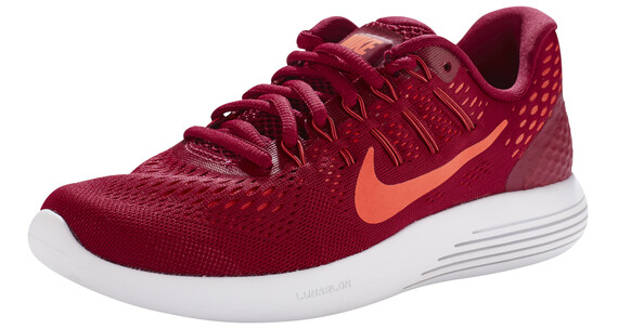 Nike Lunarglide 8 Shoes Women noble red/bright mango-fuchsia flx